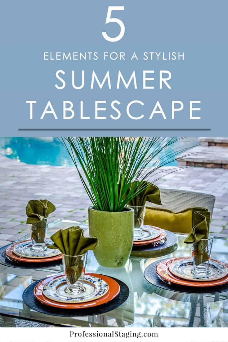 Want to create a stylish summer tablescape? Mix and match these 5 elements to easily create a casual or elegant tablescape for the season!