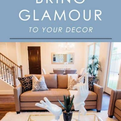 Love the look of modern glamour decor? Try these easy decorating tips to infuse this look into any space in your home.