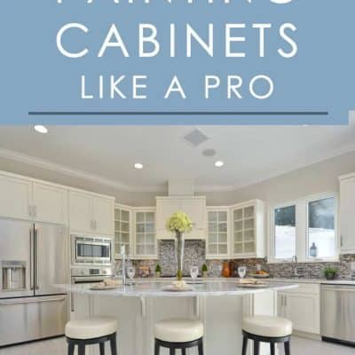 Painting the cabinets in your kitchen or bathroom can give it an instant facelift. Follow these tips for painting cabinets for a professional-looking outcome!