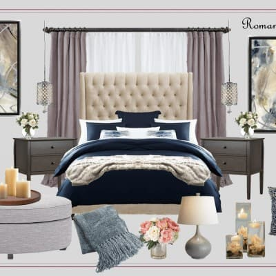 Want your bedroom decor to be more romantic? Follow these easy tips and ideas! | ProfessionalStaging.com