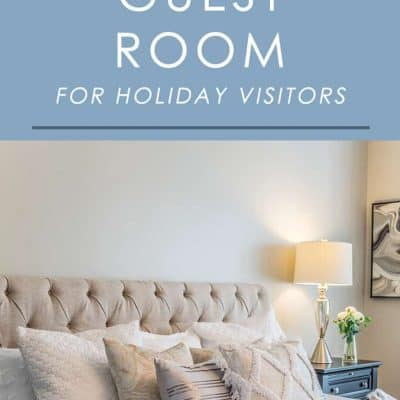 Having guests over for the holidays? Follow these simple tips and ideas to make your guest room feel extra special and festive.