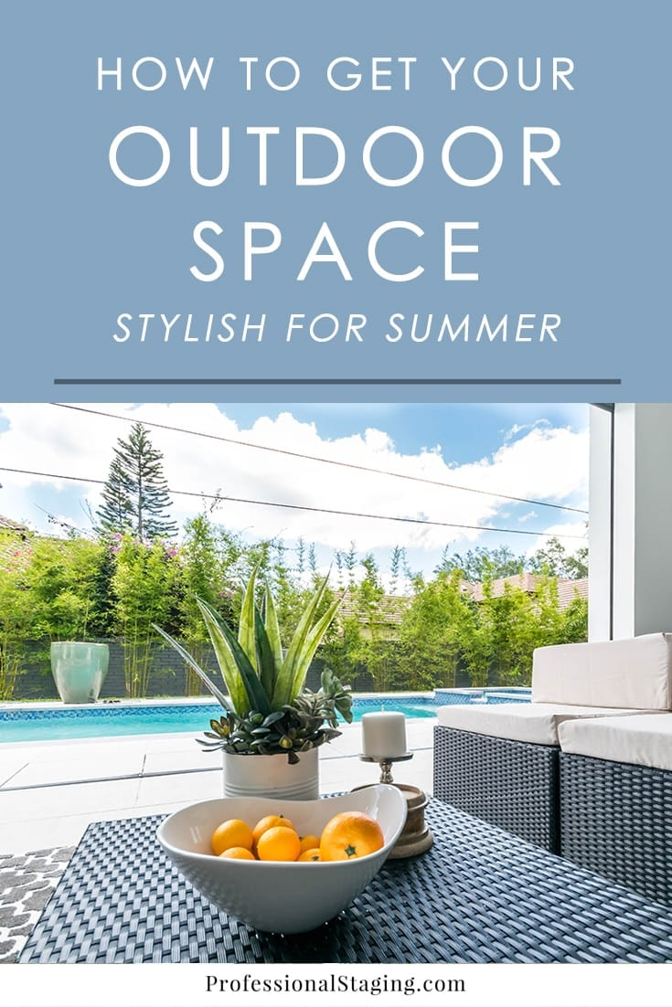 Ready to start enjoying your outdoor space this summer? Make it even more fun with these stylish decorating tips that will freshen it up.
