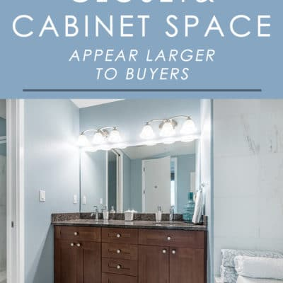 When house hunting, storage space is an important factor to home buyers. To make sure your cabinets and closets look as large as possible, follow these simple staging tips.