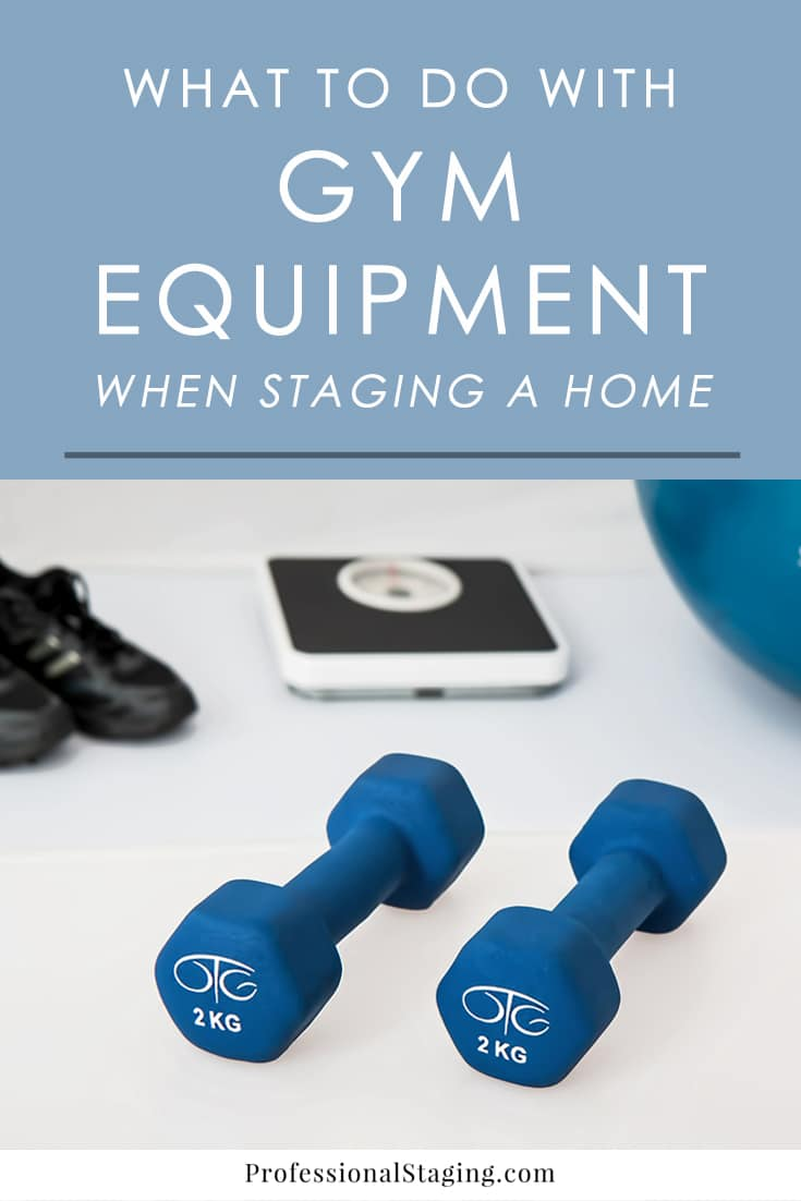 Gym equipment can be an eyesore, so follow these home staging tips to make sure your home gym set-up won't be a turn-off to potential buyers when selling your home.