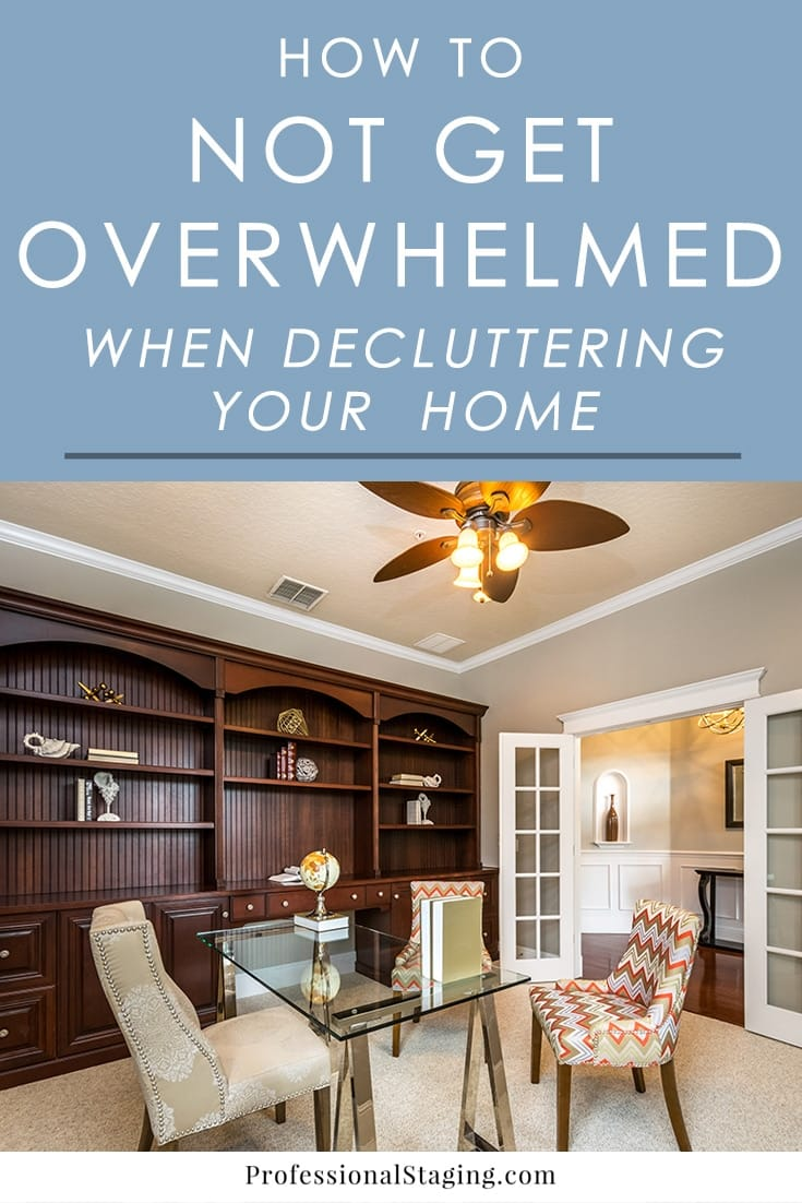 Do you feel overwhelmed every time you try to do some decluttering? These tips will help you avoid the overwhelm so you can get the job done.