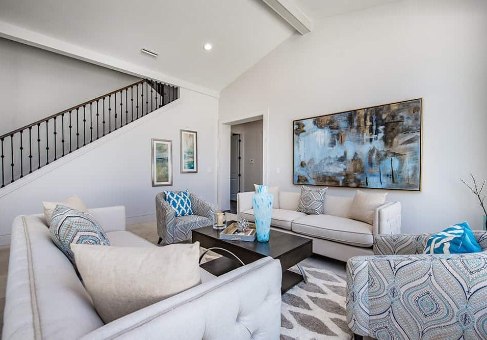 How to Decorate the Wall Behind the Sofa - Professional Staging