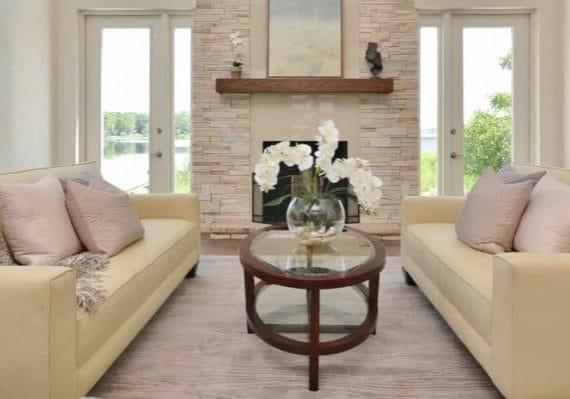 Beautiful living room biege