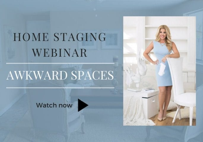 Find out how to make the awkward spaces in your home selling features in this free Home Staging Webinar!