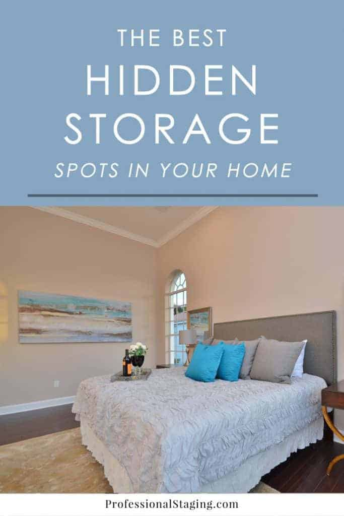 Think you have no storage space left in your home? You might actually be overlooking some of the best storage spots in your home.
