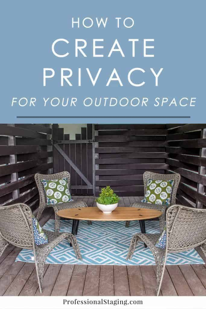 Not fully enjoying your outdoor space because it lacks privacy? Check out these easy tips on creating privacy in your backyard, patio or balcony.