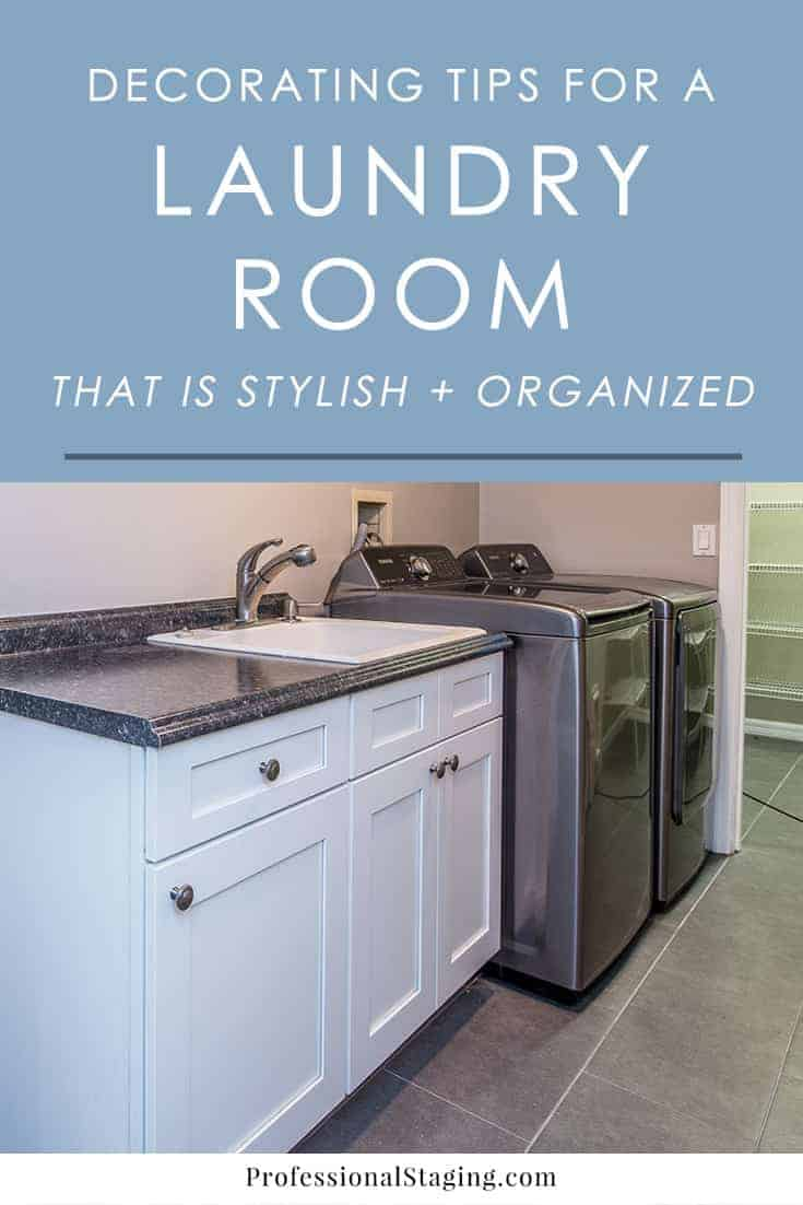 Turn your bland laundry room into a beautiful and organized space with these simple and easy decorating tips. You may actually enjoy spending time in it after you implement them!