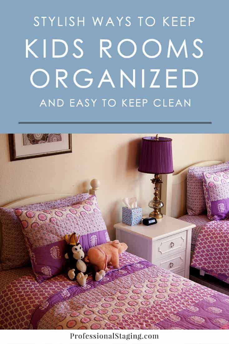 Struggling to find enough storage space for all your kids' stuff and keep their rooms decluttered? Try these easy tips and ideas for kids room organization!