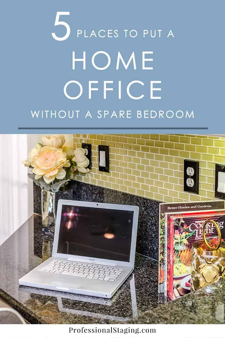 Want a home office but don't have a spare bedroom available? Here are 5 alternative places in your home where you can fit a home office space.