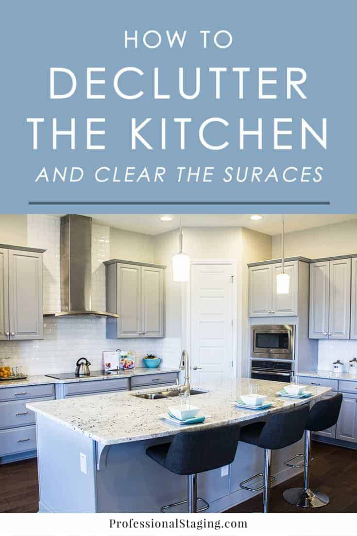 The kitchen is one of the quickest rooms in a home to become cluttered. Follow these easy tips to declutter your kitchen and clear off the surfaces for a more beautiful space.