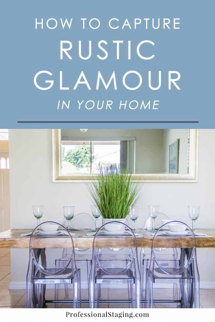 Rustic glamour is one of the most popular styles in decorating right now because it mixes luxury with character and comfort. Follow these easy steps to capture the look in your home.