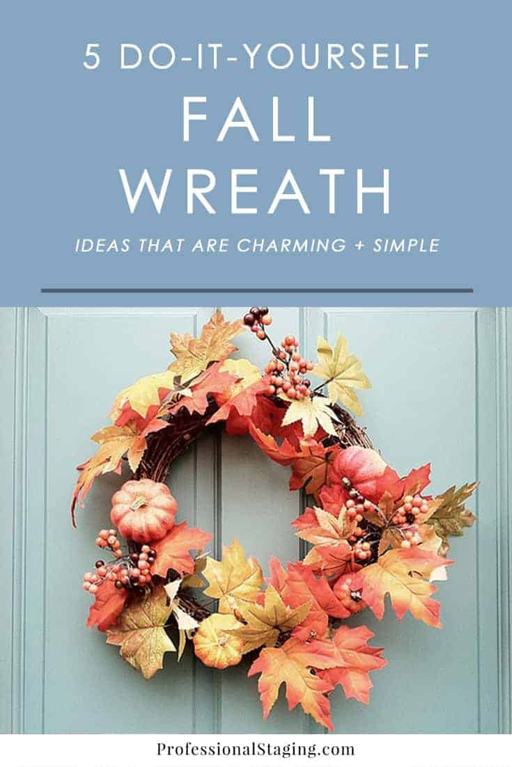Put together your own charming fall wreath with these simple DIY ideas you can easily mix and match or put all together to create something stylish and beautiful for the season.