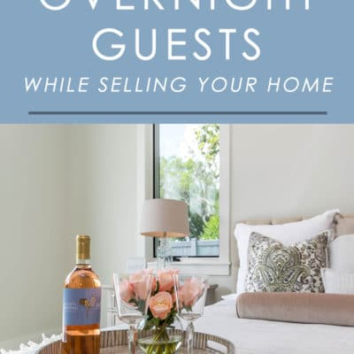 Find yourself hosting overnight guests while your home is on the market? It can be a tricky situation but not an impossible one. Follow these tips to make sure your guests are comfortable and your home still has its best chance at getting sold.