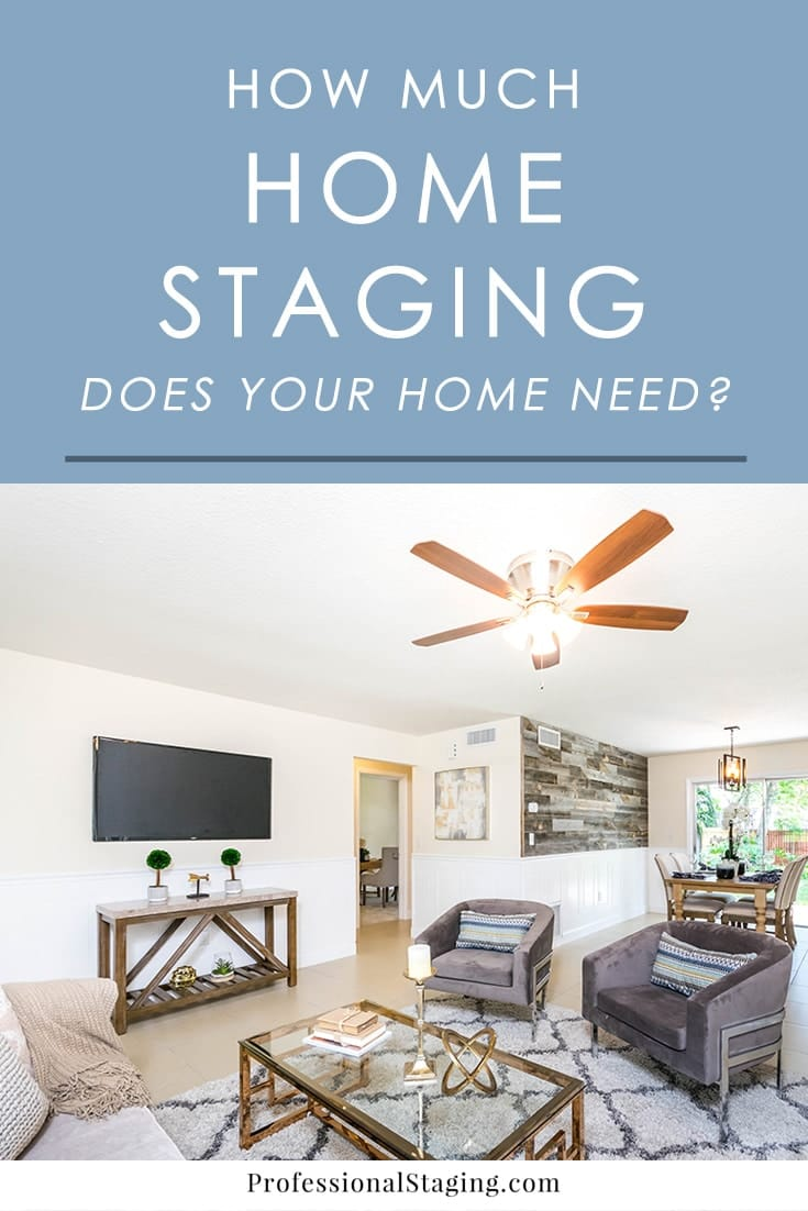 Getting ready to put your home on the market and want to give it a boost with home staging, but aren't sure how much you really need? Here's a quick guide to help you decide!