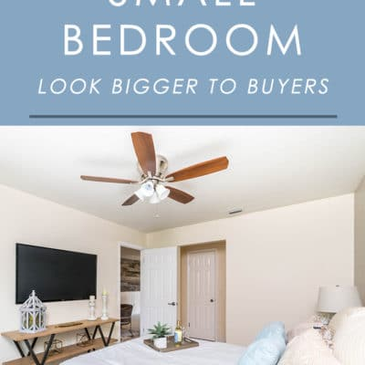 If you're worried about the small bedrooms in your home turning off buyers, follow these easy home staging tips to make them appear more spacious.
