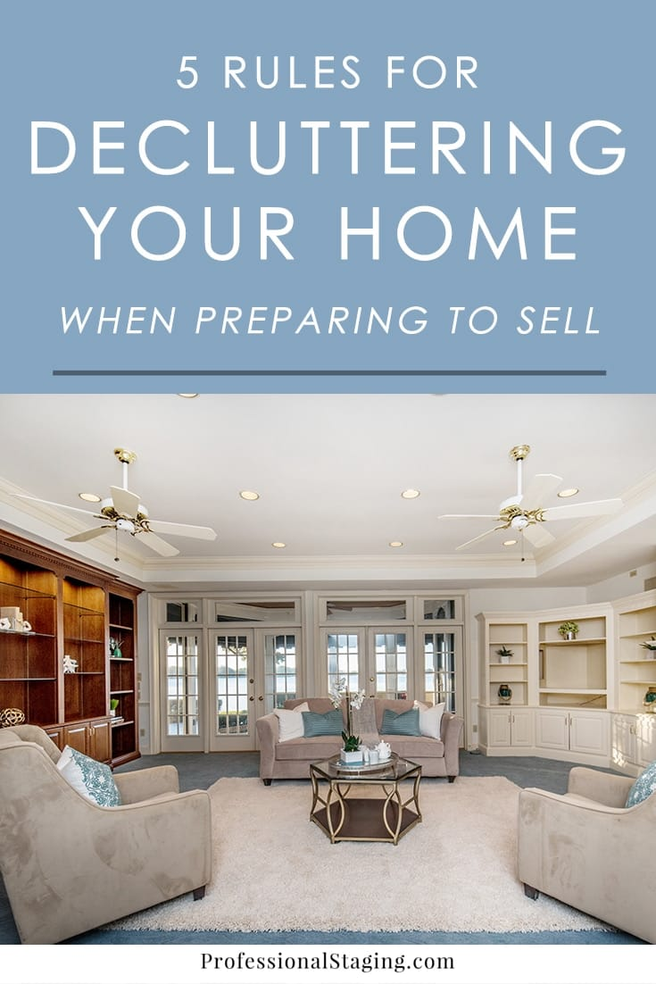 Decluttering for home staging is different from decluttering to live in it. Here are 5 tips we recommend following if you want to give your home its best chance in a competitive market.