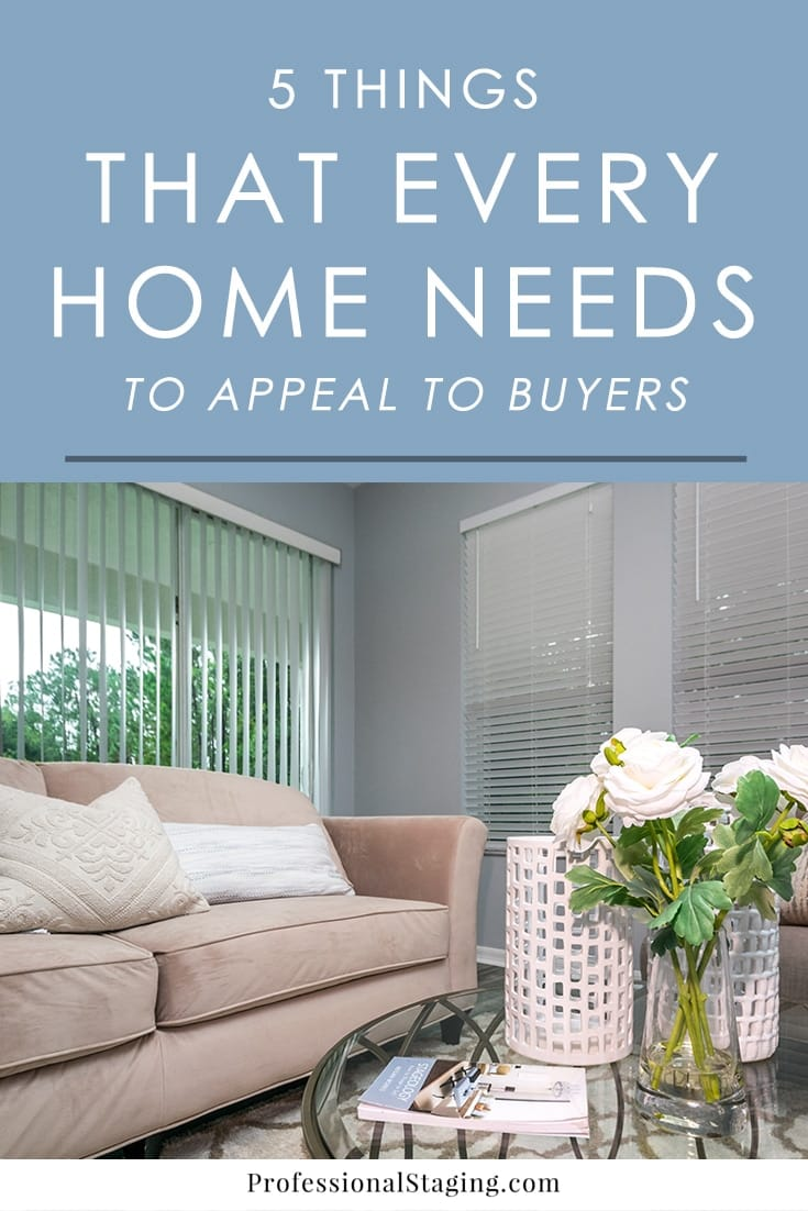 To make sure your home makes a positive impression on buyers, include these 5 things that go a long way in helping it stand out from others on the market.