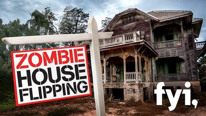 Zombie House Flipping main title