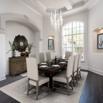 Dining room with virtual staging