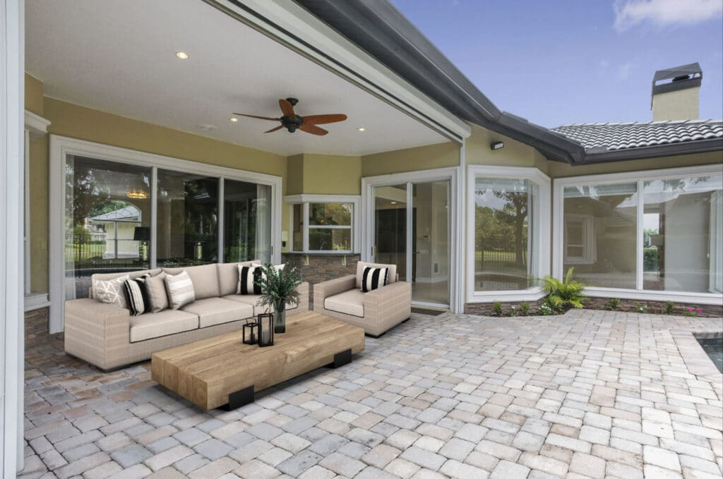 Patio with virtual staging