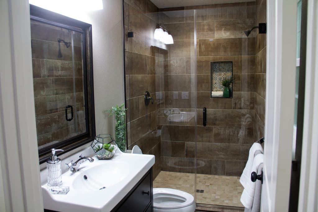 Master bathroom of the King Zombie from Zombie House Flipping S2 E3