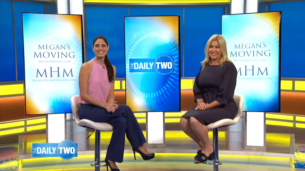 Megan Morris with Megan Clementi on the set of WFTV's Daily Two