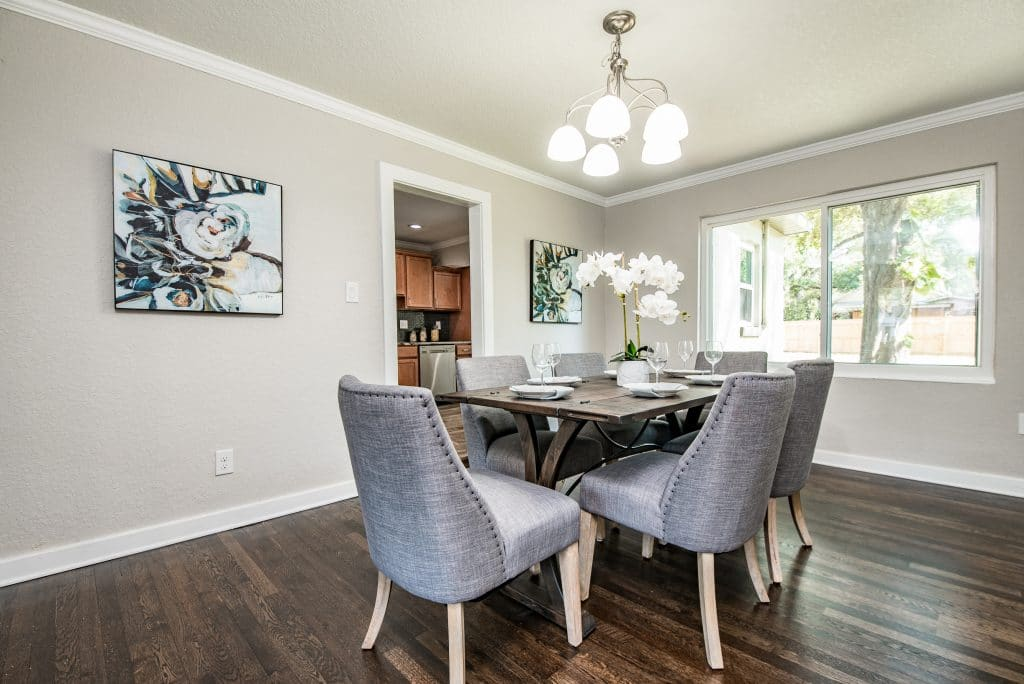 Dining room in the house from Zombie House Flipping season two episode six