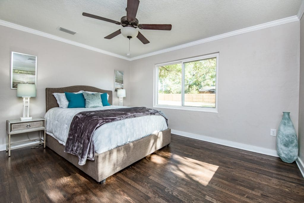 Master bedroom in the house from Zombie House Flipping season two episode six