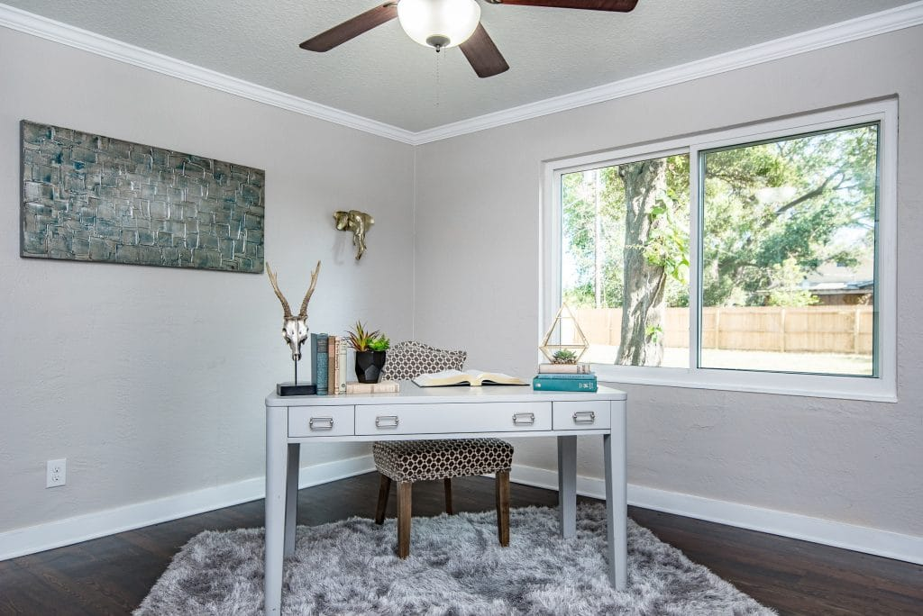 Home office in the house from Zombie House Flipping season two episode six