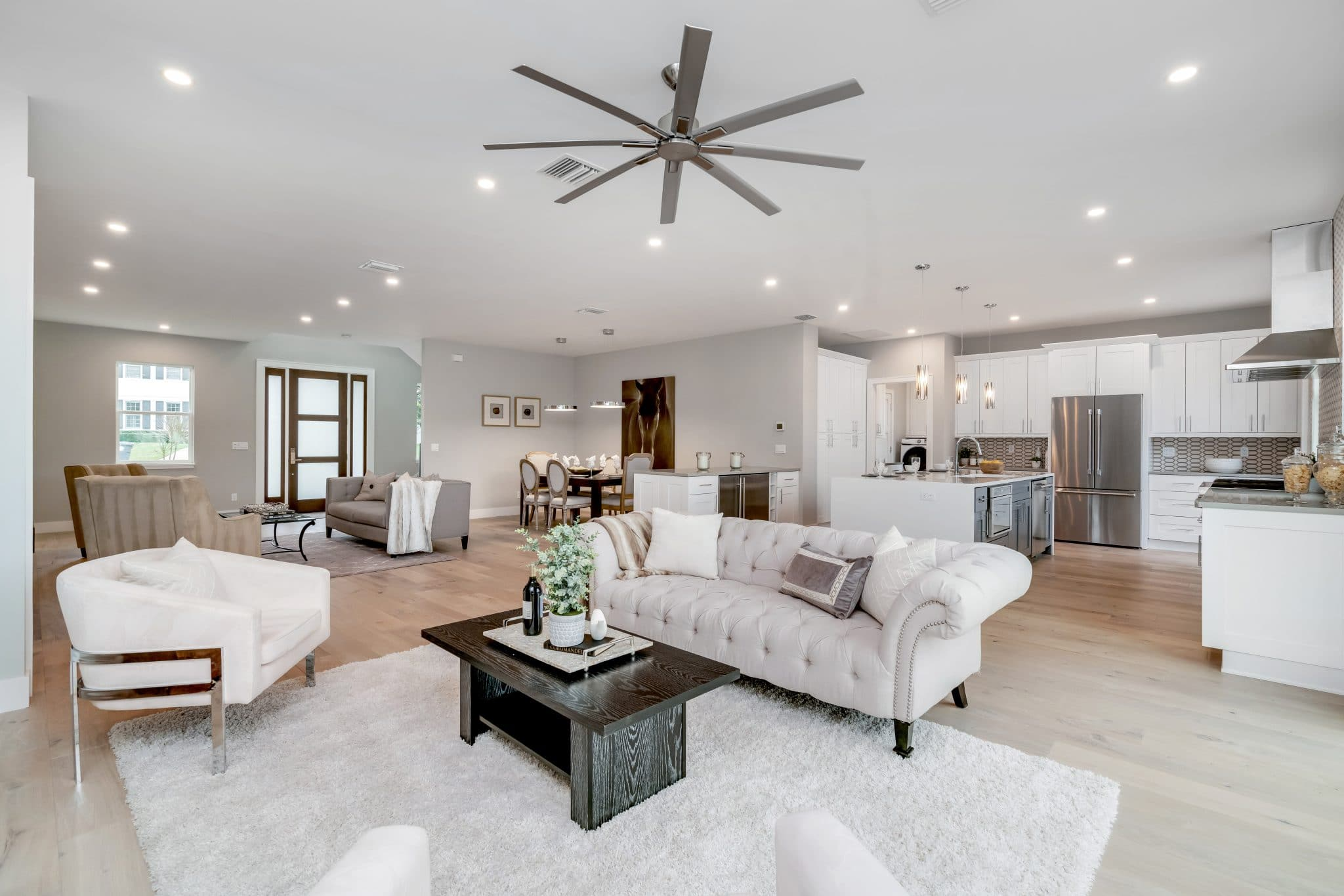 Living room staged by MHM Professional Staging