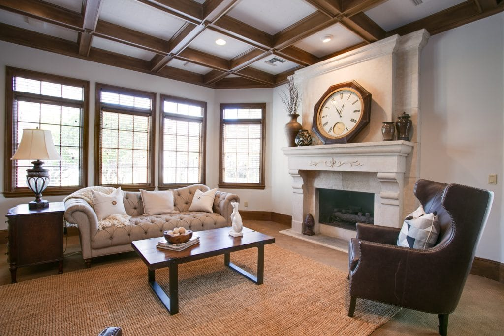 Family room redesign by MHM Professional Staging