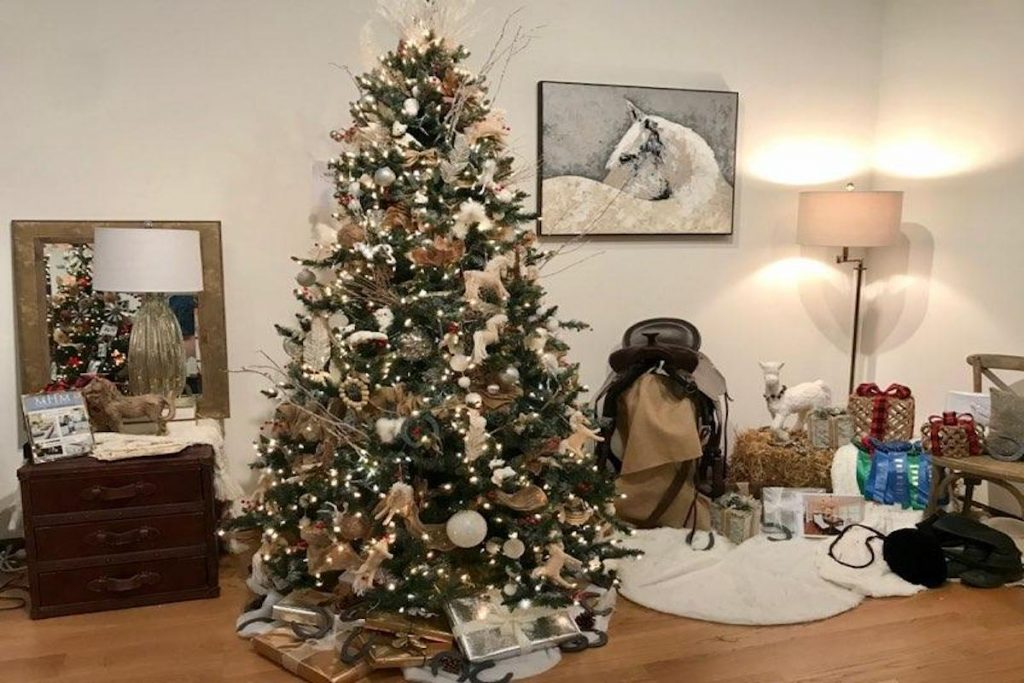 MHM Professional Staging Christmas tree and vignette at the 2019 Festival of Trees