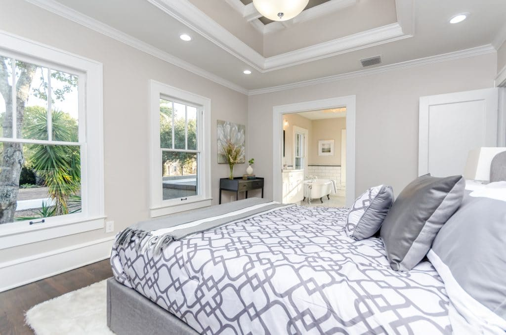 Another view of the master bedroom in the house from Zombie House Flipping season two episode ten