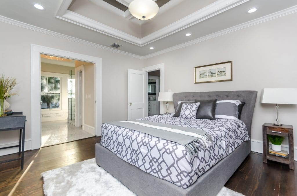 Master bedroom in the house from Zombie House Flipping season two episode ten