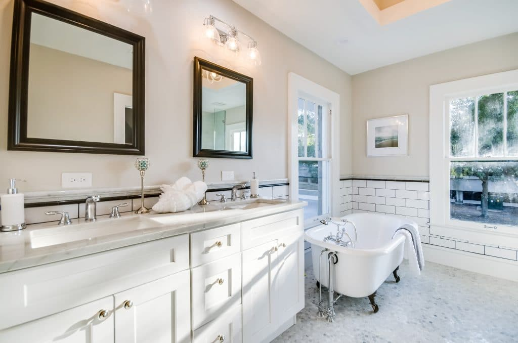 Master bathroom in the house from Zombie House Flipping season two episode ten