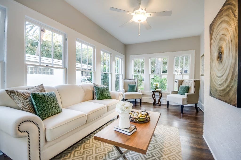 Sunroom in the house from Zombie House Flipping season two episode ten