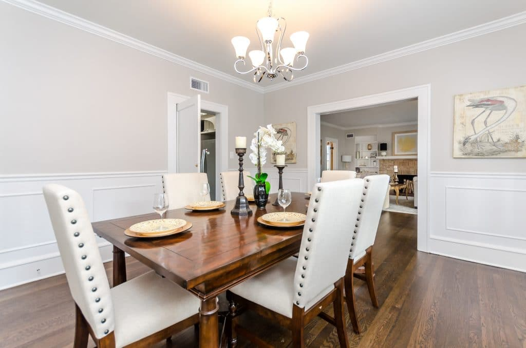 Dining room in the house from Zombie House Flipping season two episode ten