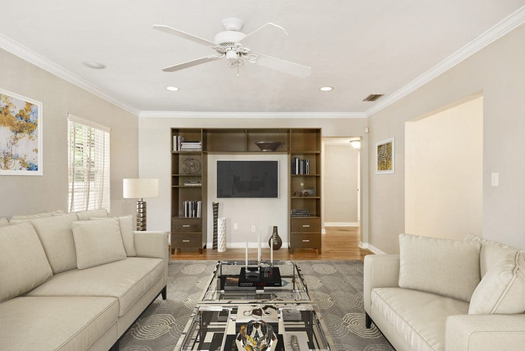 Living room virtually staged by MHM Professional Staging