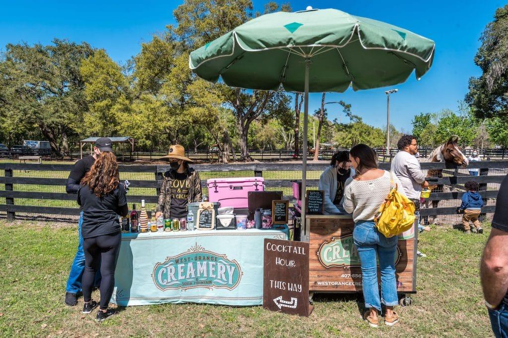 Drink vendor, West Orange Creamery Soda Fountain, at the event.
