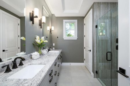 A bathroom staged by MHM Professional Staging.